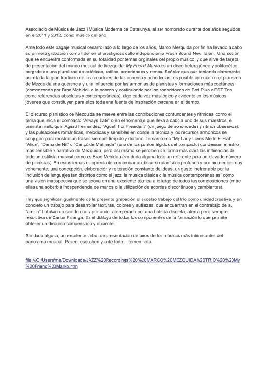Crítica my friend marko por JC Abelenda2