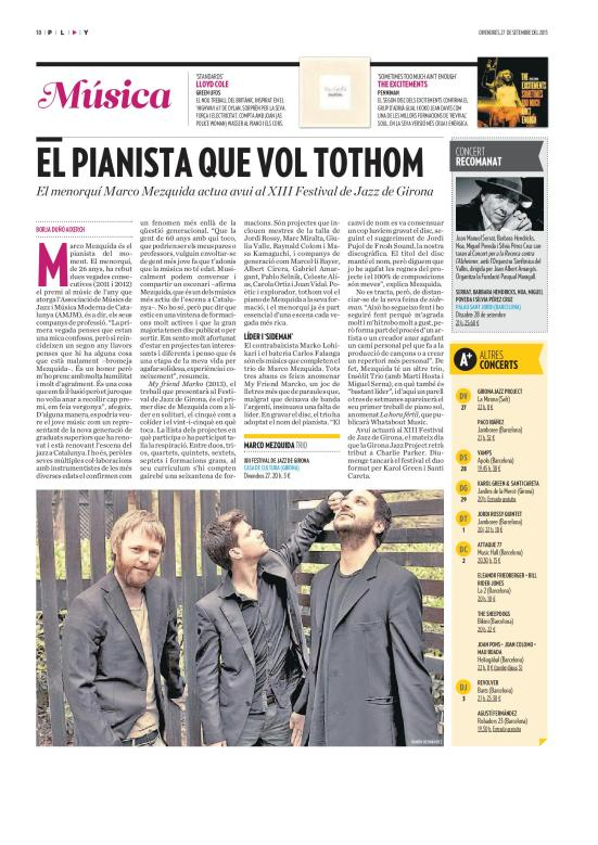 Marco Mezquida previa festival de Girona 2013 diari ARA