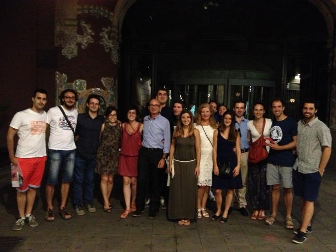 après Palau de la Música concert 4/8/2015