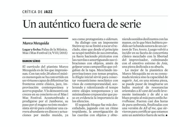 crónica Ramon Súrio La Vanguardia